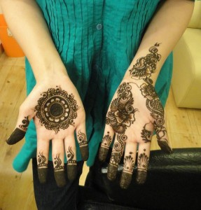 latest mehandi designs 2014 08