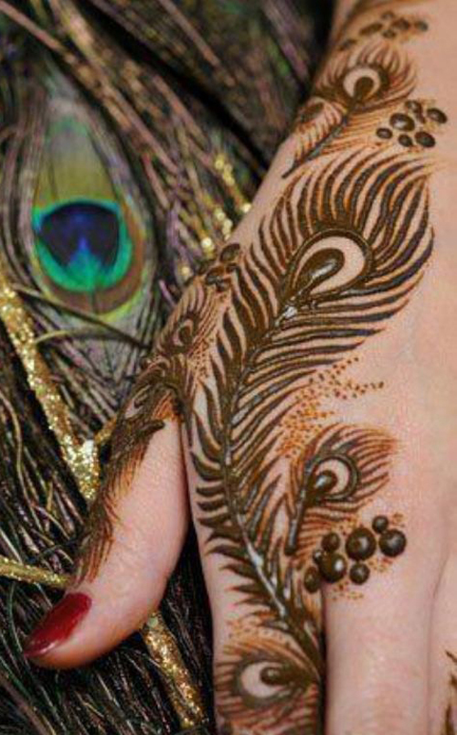 Mehndi Makeup Looks : Simple mehndi design for hands indian makeup and