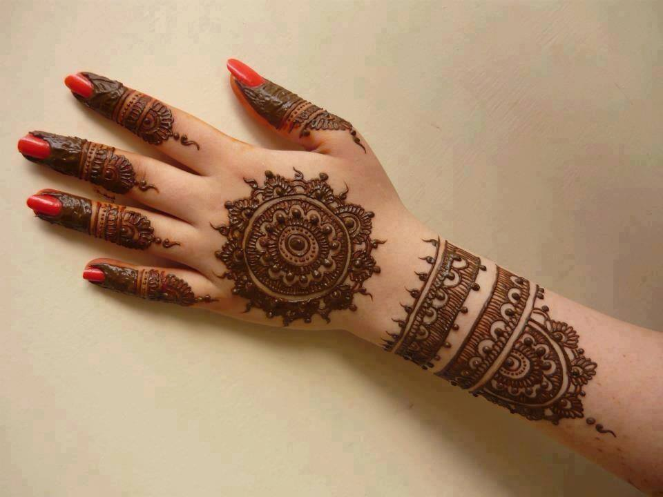 Makeup For Mehndi : Simple mehndi design for hands indian makeup and