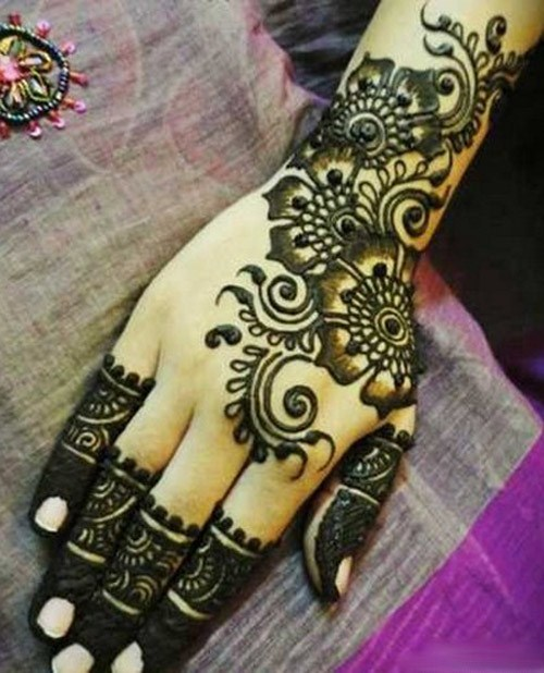 Hand Mehndi Tips : Simple mehndi design for hands indian makeup and