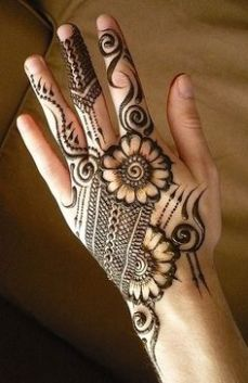 Simple mehndi design for hands 97