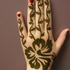 Simple mehndi design for hands 98