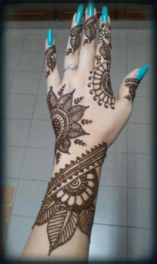 Arabic mehndi designs for full hands 12