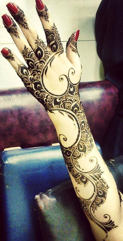 Arabic mehndi designs for full hands 19