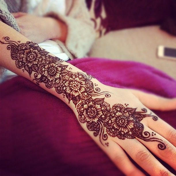 Traditional Mehndi Designs For Hands : Lovely arabic mehndi designs for full hands indian