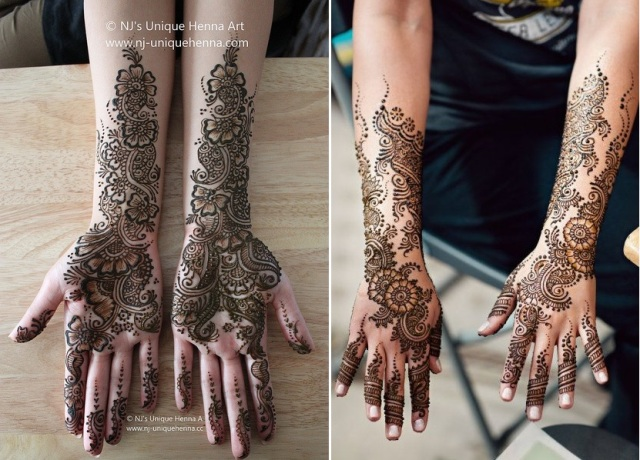 24 Lovely Arabic Mehndi Designs For Full Hands Indian Makeup And