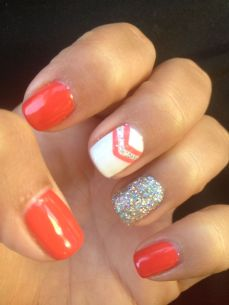 easy nail art designs for New Years 16