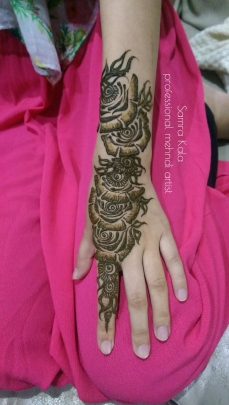 Mehandi designs by Samra 17