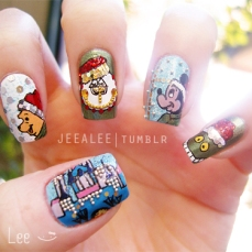 Nail art designs for christmas 10