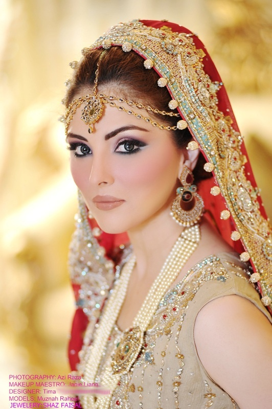 Simple Makeup In Wedding : Bridal makeup for a Sangeet ceremony Indian Makeup and ...
