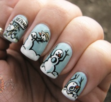 Winter inspired nail art designs 02