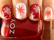 Winter inspired nail art designs 05