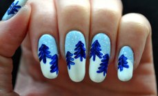 Winter inspired nail art designs 06
