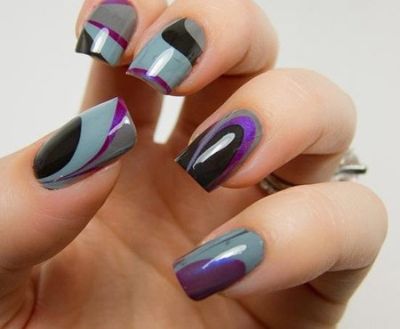Winter inspired nail art designs 07
