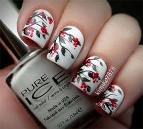 Winter inspired nail art designs 13
