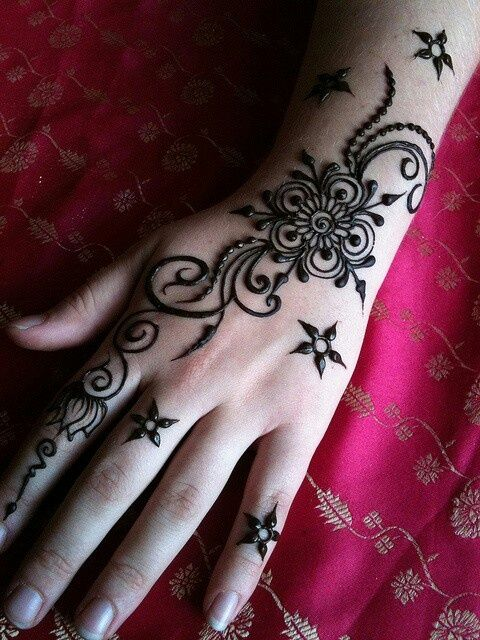 Arabic mehndi designs for bride relatives 12