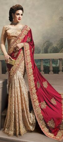Designer sarees to wear on weddings 01