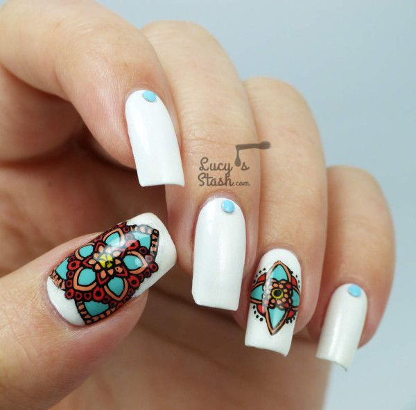 Nail art designs inspired by Indian motifs 01 | Indian Makeup and ...