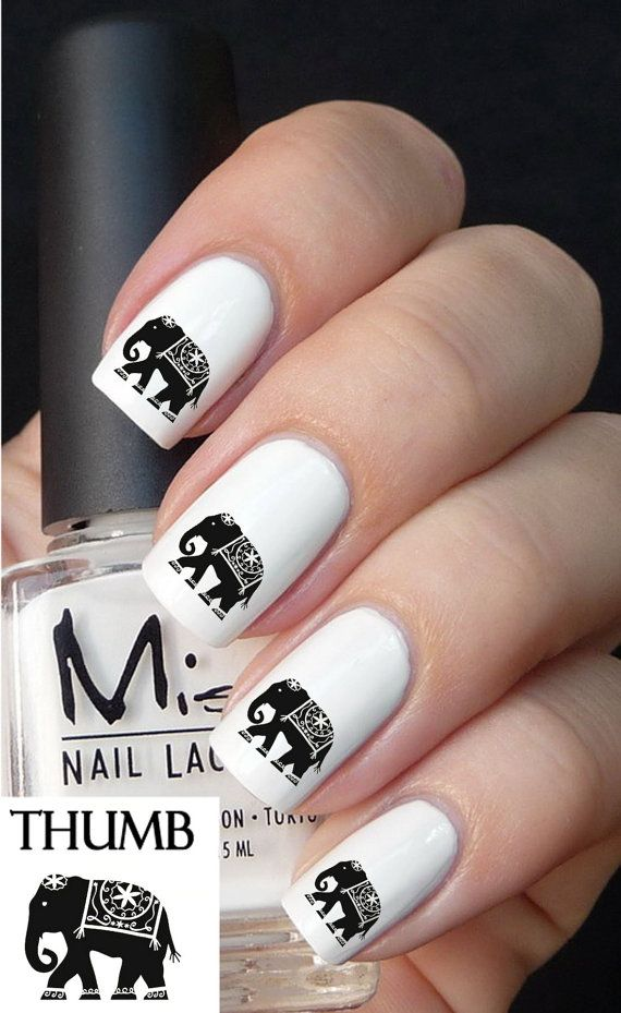 Nail art designs inspired by Indian motifs 04