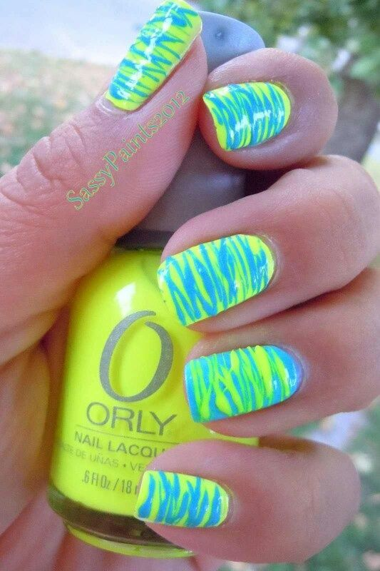 Nail Art Designs Lime Green Hession Hairdressing
