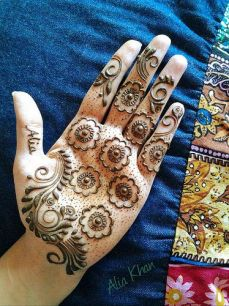 mehndi design for the summer bride 17