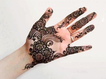 Latest Arabic mehndi design photos 02