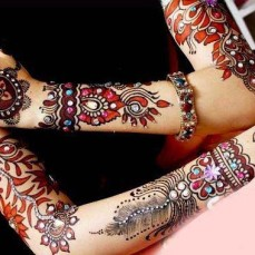 Latest Arabic mehndi design photos 08