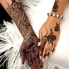 Latest Arabic mehndi design photos 17