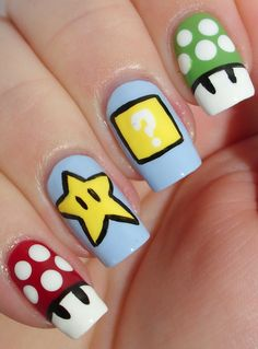 Nail Art Designs Inspired By Games 03 Indian Makeup And Beauty