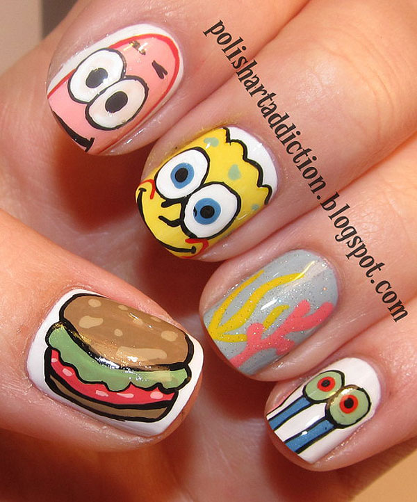 Chocolate Nails Art Game Online Nail Games: Nail Art Designs Inspired By Games 04