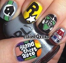 Nail art designs inspired by games 06