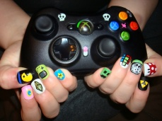 Nail art designs inspired by games 08