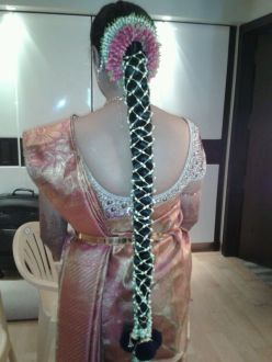 South Indian Bridal Hairstyles 10