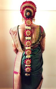 South Indian Bridal Hairstyles 11