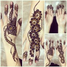 Arabic mehndi design 12