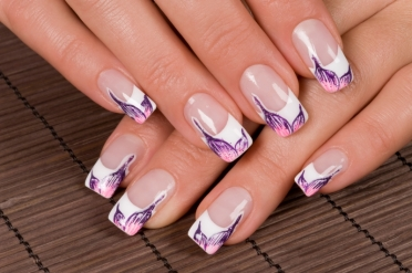 French manicure nail art designs 01