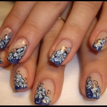 French manicure nail art designs 03