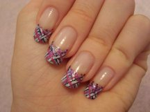 French manicure nail art designs 04