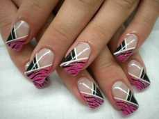 French manicure nail art designs 05