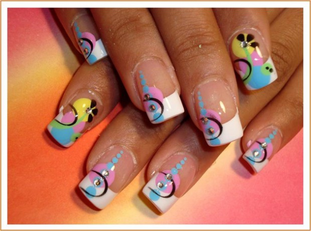 French manicure nail art designs 07 | Indian Makeup and Beauty ...