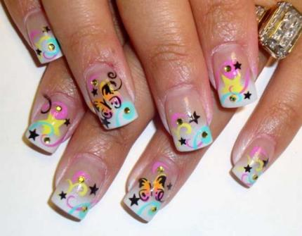 French manicure nail art designs 08