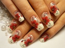 French manicure nail art designs 09