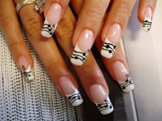 French manicure nail art designs 10