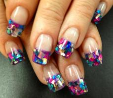 French manicure nail art designs 16