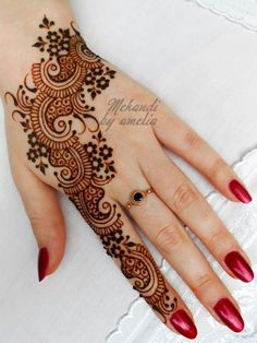 Images of simple mehndi designs for hands 09