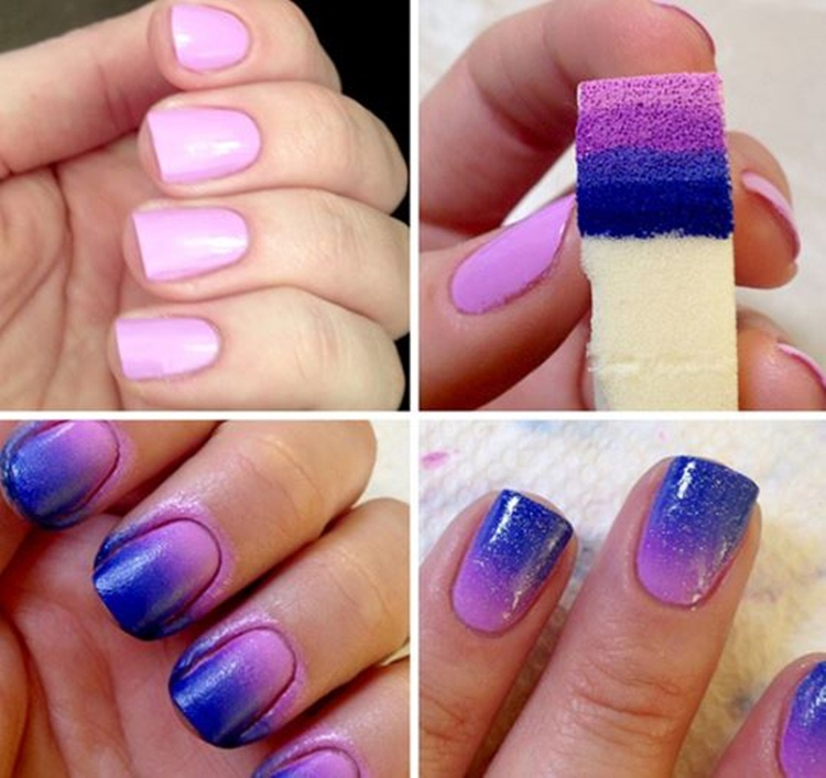 Nail Art Using Sponge Photos