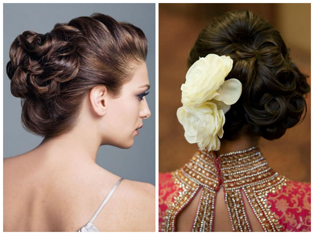 Superb 16 Spectacular Indian Bridal Hairstyles For Short And Curly Hair Hairstyles For Women Draintrainus