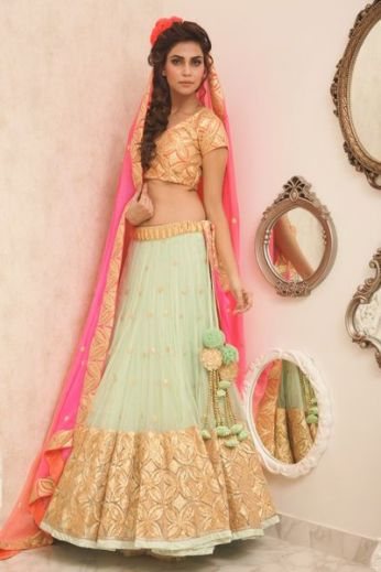 Indian Bridal Lehenga Designs 16