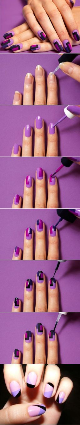 Nail art designs step by step 14
