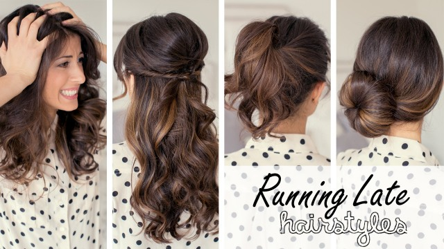 12 easy hairstyles to do when running late | indian makeup